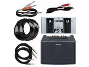 Roland AC-60 Acoustic Guitar Amp Bundle with Cables & Foot Switch