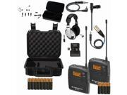 Sennheiser EW 112-P G3 (G-Band) Wireless System with Case, Headset Microphone, Headphones Bundle