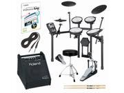 Roland TD-11KV-S V-Drums Electronic Drum Kit with PM-10 Amp & Accessories Bundle