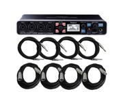 Roland Octa-Capture UA-1010 USB Audio Interface with Cables Bundle