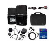 Zoom H2n Handy Portable PodCast Audio Recorder with Accessory Pack, Case, 8GB Card, Ear Buds and Cables Bundle