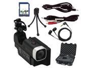 Zoom Q4 Video Recorder with SD Card, Cables, Earbuds, Hard Case, and Mini Tripod Bundle