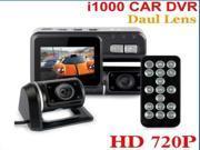 "NEW I1000 Separate Lens Car Vehicle DVR Recorder Video Hd 720p G-sensor MOV 2.0"" LCD"