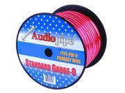 Audiopipe PW025RED 0 Gauge Red Car Amp Power Wire 25' Spool