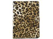 Apexel Quality New Leopard Pattern PU & Plastic Leather Smart Stand Protective Folio Cover Flip Case for Apple iPad  Air / iPad 5 Brown