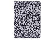 Apexel Quality New Leopard Pattern PU & Plastic Leather Smart Stand Protective Folio Cover Flip Case for Apple iPad Air / iPad 5 White