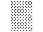 Apexel Polka Dot Lovely Style Leather Protective Case Cover for Samsung Galaxy Tab 3 10.1 (GT-P5200/ P5210/ P5220) White
