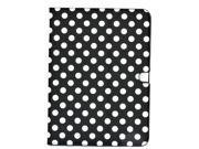 Apexel Polka Dot Lovely Style Leather Protective Case Cover for Samsung Galaxy Tab 3 10.1 (GT-P5200/ P5210/ P5220) Black