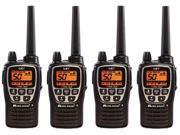 Midland GXT2000VP4 Two Way Radio Value Pack W/ 36 Mile Range (4 Pack)