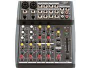 PYLE Audio PYLPEXM801M Pyle-Pro PEXM801 10 Channel Balanced Studio Grade IMP Audio Mixer with Pre-Amp