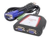 SIIG CEVG0B11S1B SIIG CE-VG0B11-S1 1 x 2 Compact VGA and Audio Splitter