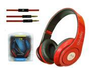 Headband PC Notebook Pro Gaming Headset Microphone-red