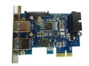 USB3.0 PCIe Card PCI-express 19-pin 20pin USB3.0 expansion card