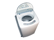 Haier Apartment-size Portable washer with a Capacity of  0.91 Cu. Ft casters are included