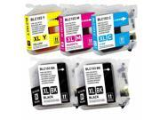 5-PACK Compatible Brother LC103 XL (LC103BK) High Capacity 2x Black & Color Ink Cartridges