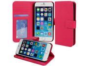for Apple iPhone 6 Plus (5.5 inch) - Luxury Pink Folio Wallet-Style PU Leather Case Hard Flip Cover, Stand, Magnetic Snap Closure, ID and Credit/Payment Card Slots