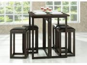 Baxton Studio Leeds Brown Wood Collapsible Pub Table Set