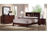 Baxton Studio Montana King 5 Piece Mahogany Brown Wood Modern Bedroom Set