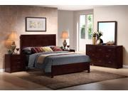 Baxton Studio Trowbridge Cherry 5-Piece Modern Bedroom Set - Queen Size