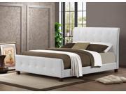Amara White Modern Bed - Full Size