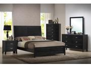Eaton Black Wood 5-Piece Queen Modern Bedroom Set