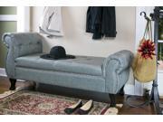 Baxton Studio Ipswich Grey Linen Bench
