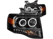 Anzo USA 111113 Headlight Assembly&#59; Projector w/Halo 07-13 Expedition