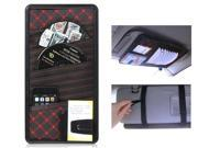 Multifunctional Microfiber Leather CD & Card Holder (Red)