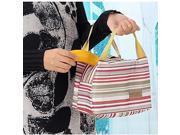 3 Color Stripe Lunch Box Bag Oxford Cloth Color Random Design Random 23* 15 * 17cm