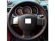 XuJi ™ Black Genuine Leather Steering Wheel Cover for Old Nissan Tiida Livina Sylphy Note , Black
