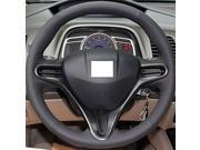 XuJi ™ Black Genuine Leather Steering Wheel Cover for Honda Civic 2004-2011