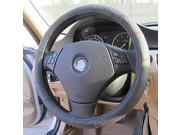 LEBOSH™Genuine Leather Line Pattern Breathable Perspiration Steering Wheel Cover