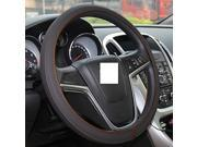 XuJi ™ Universal Ultra-thin Dark Gray Genuine Cowhide Leather Steering Wheel Cover