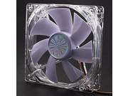 AK-FN055 12cm White LED Quiet Fan with 3-4 Pin Adapter for PC