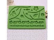 DIY Fondant Silicone Embossing Mold Stereo Flower Print