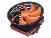 1 Copper Heat Pipe 12cm Round Heatsink CPU Cooler Fan for INTEL 775/1150/1155/1156 AMD 754/939/AM2/AM3/FM1/FM2