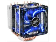 6 Heatpipes Dual 120mm Blue LED Fan Heatsink CPU Cooler Fan for Intel LGA 2011/1366/1155/1156/LGA1150/775 AMD FM1/FM2/AM3+/AM3/AM2+/AM2