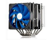 6 Heat Copper Pipes Dual 120mm 4Pin PWM Fan CPU Cooler Heatsink for Intel LGA2011/LGA1366/LGA1155/LGA1156/LGA1150/LGA775 AMD FM1/AM3+/AM3/AM2+/AM2