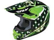 FLY Kinetic Helmet Flash- [Green/White/Black] (Large) [73-3475L]