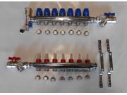 """7 Loop PEXworx Stainless Steel Radiant Heat Manifold for 1/2"""" Pex / Pex-Al-Pex"""