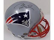Tom Brady Signed Patriots Full SZ Proline Helmet w/ American Flag TriStar