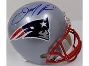 Julian Edelman Autographed New England Patriots Full SZ Replica Helmet JSA