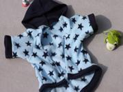 Star heart design,Hooded cotton-padded , Pet Dog christmas gifts clothes , Winter dog clothing Coat , Merry Christmas Clothing Gift