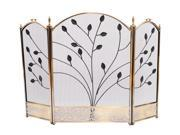 Bronze Antique-Styled Fireplace Screen
