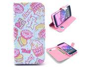 Hip Rose Cartoon Pattern PU Leather Full Body Case with Stand and Card Holder for LG Nexus 5 with Screen Protector