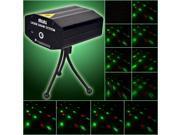 Mini LED R&G Laser Projector Stage Lighting Adjustment DJ Disco Party Club Black