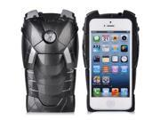 3D Avengers Iron Man Mark VII Hard Case Cover Protective Armor For iPhone 4 4S black