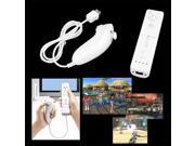 White Remote Nunchuck Controller Set for Nintendo Wii