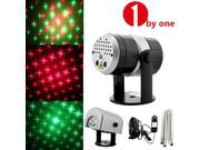 1Byone 4Lens Multifunctional Elegant Mini Green&Red Portable Laser Light DJ Lighting Projector Disco Stage Xmas Party Show Club Bar Light Projector with Rain Cover