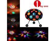 "1Byone QL-0080 Ellipse 10"" Sound Activated Honeycomb LED Rotating Multicolor Flashing Disco Light"